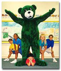 Kelly Bear in Personal Safety DVD song with children